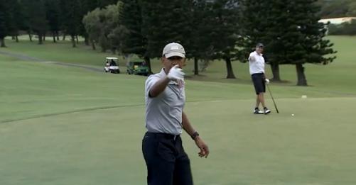 Vídeo: Barack Obama faz jogada fantástica no golfe