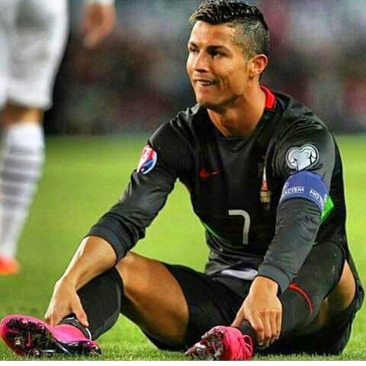 Cristiano Ronaldo em partida pela Seleção Portuguesa