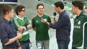 Marcos Kleine torce para o Palmeiras