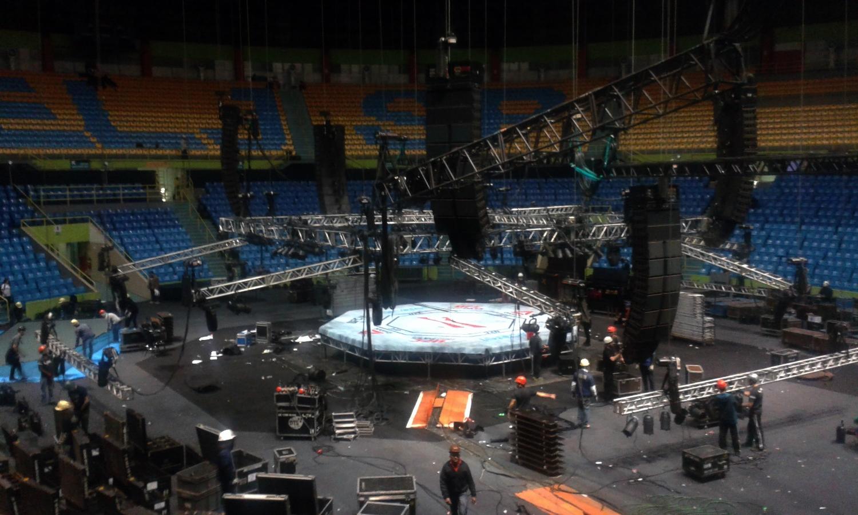Desmontagem octógono UFC SP