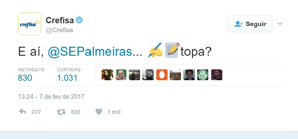 Palmeiras e Crefisa