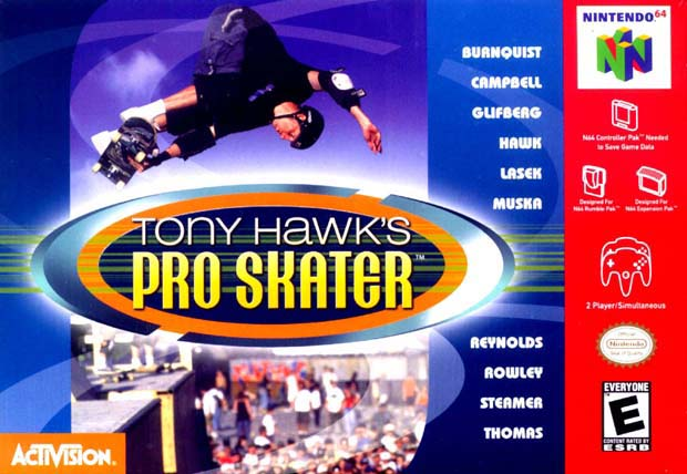 Pro Skater 2 de Tony Hawk-cover game/ best game n64