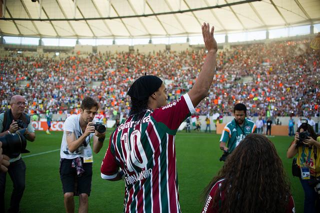 Ronaldinho Gaúcho chegou como estrelas no Fluminense