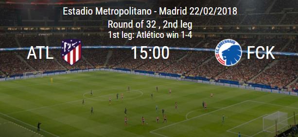 Atlético de Madrid x Copenhague