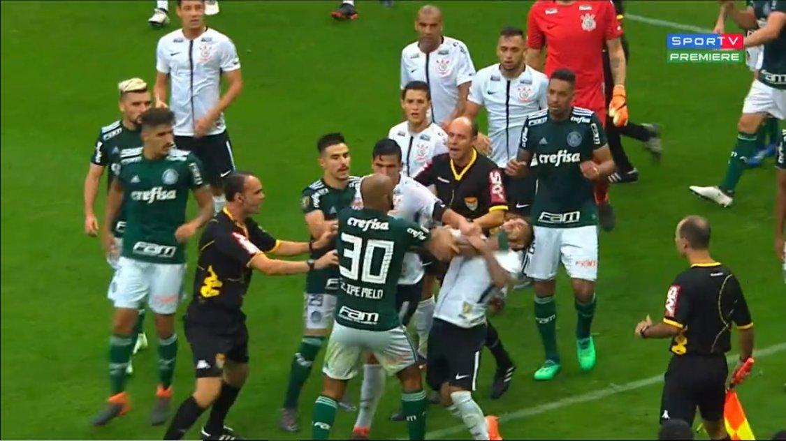 Felipe Melo Clayson Corinthians x Palmeiras Paulistão