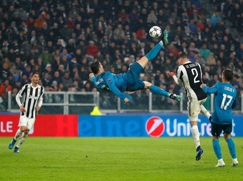 Cristiano Ronaldo em Real Madrid x Juventus