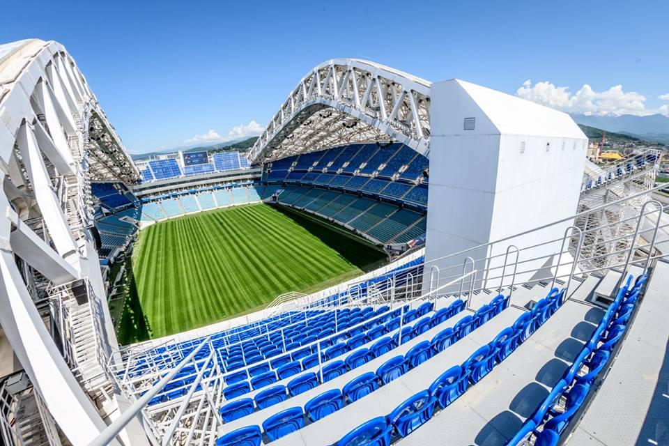 Estádio Fisht em Sochi deve ser a casa da seleção brasileira na Rússia - equipe é a única com presença em todos os 22 mundiais realizados
