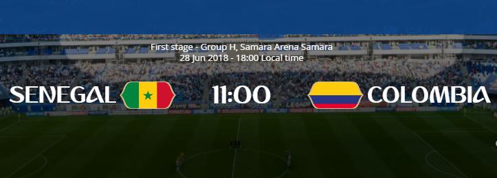 Senegal x Colômbia