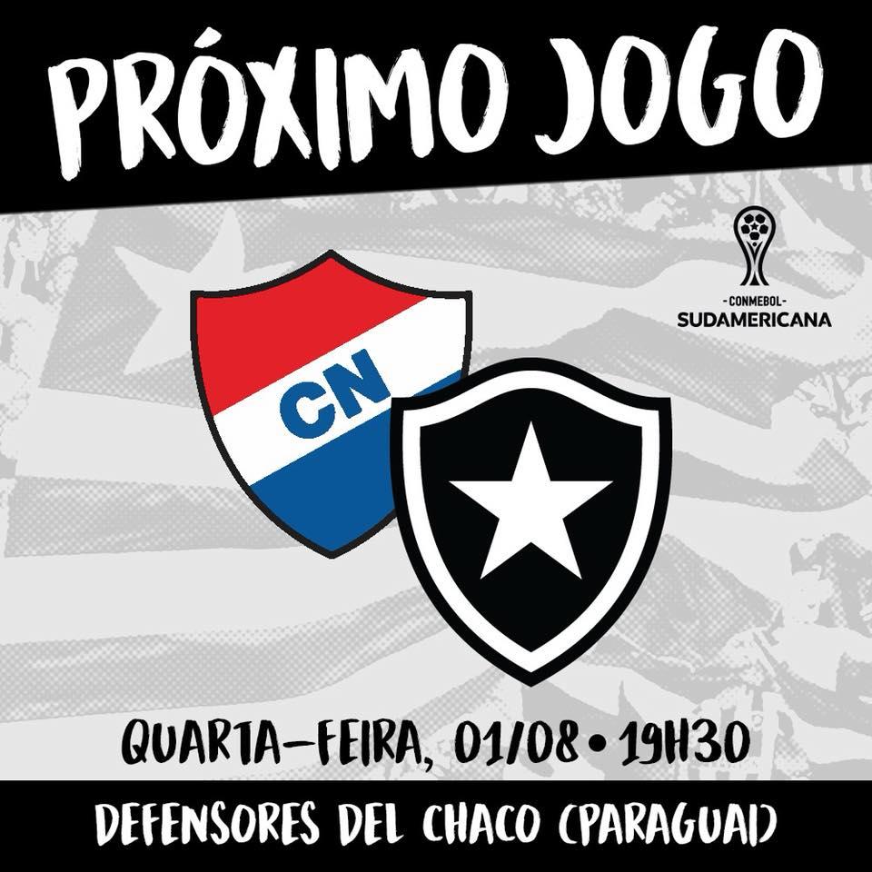 Anúncio da partida entre Nacional-PAR e Botafogo