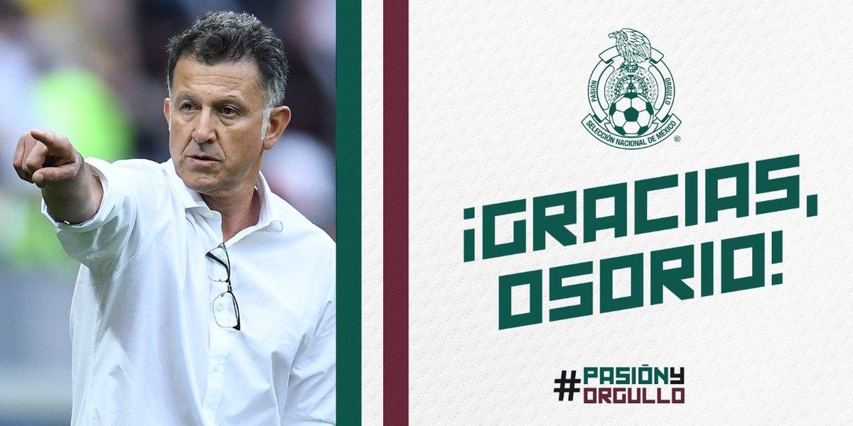 Osorio deixa o comando do México após um bom ciclo de Copa do Mundo.
