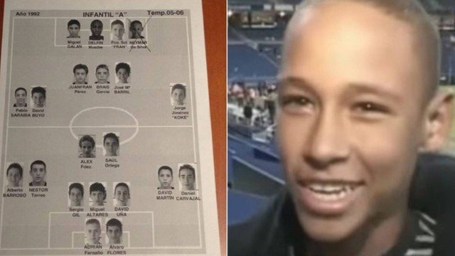 Neymar atuou duas semanas pela base do Real Madrid.