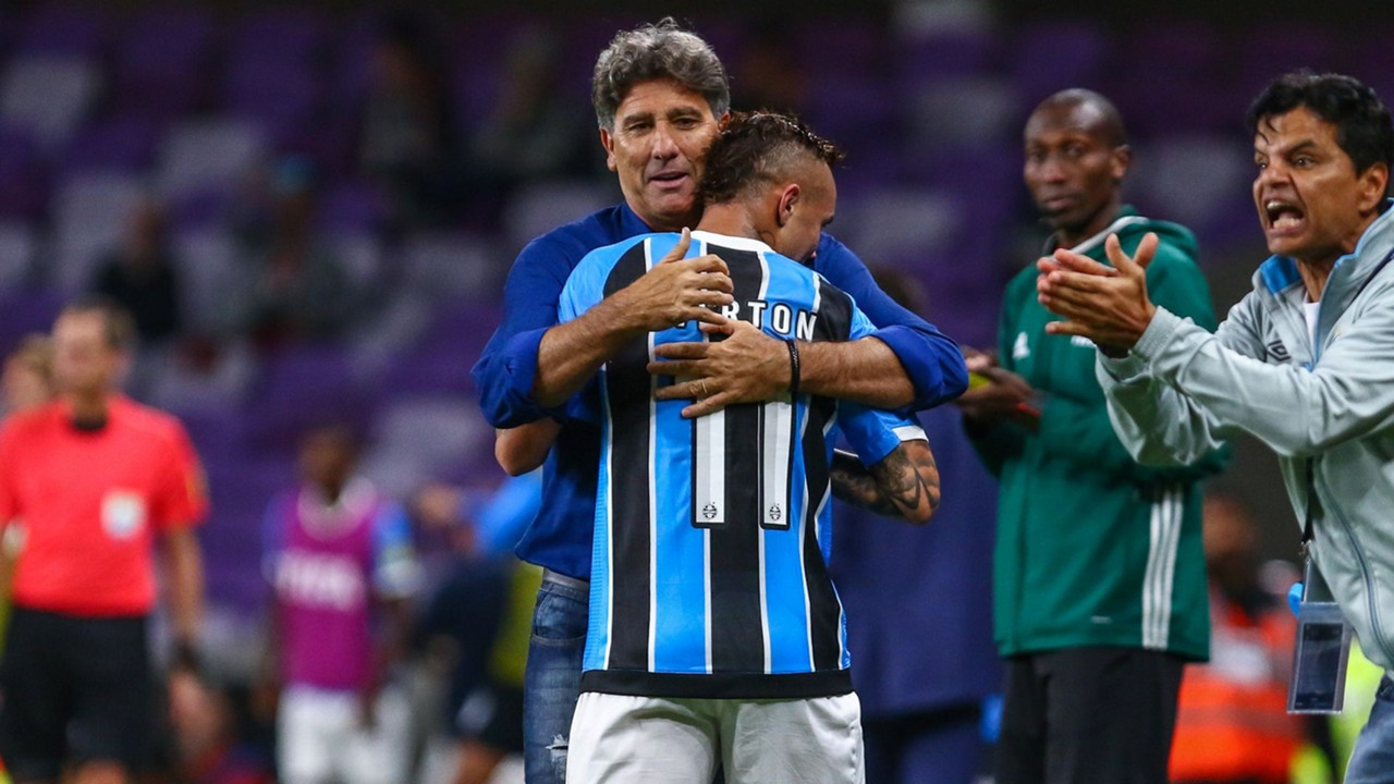 Renato Gaúcho e Everton