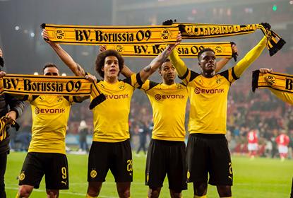 Borussia Dortmund comemora mais uma vitória.