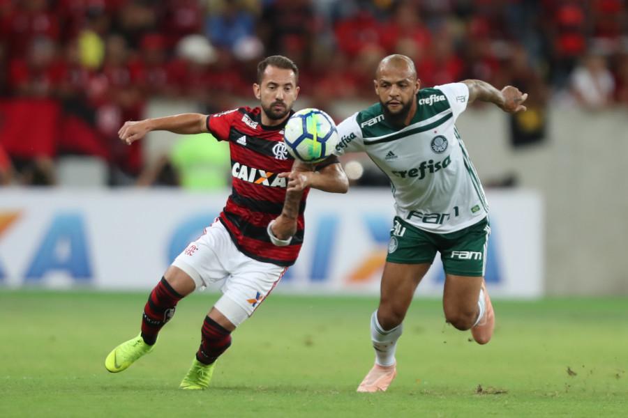 Felipe Melo em Flamengo x Palmeiras