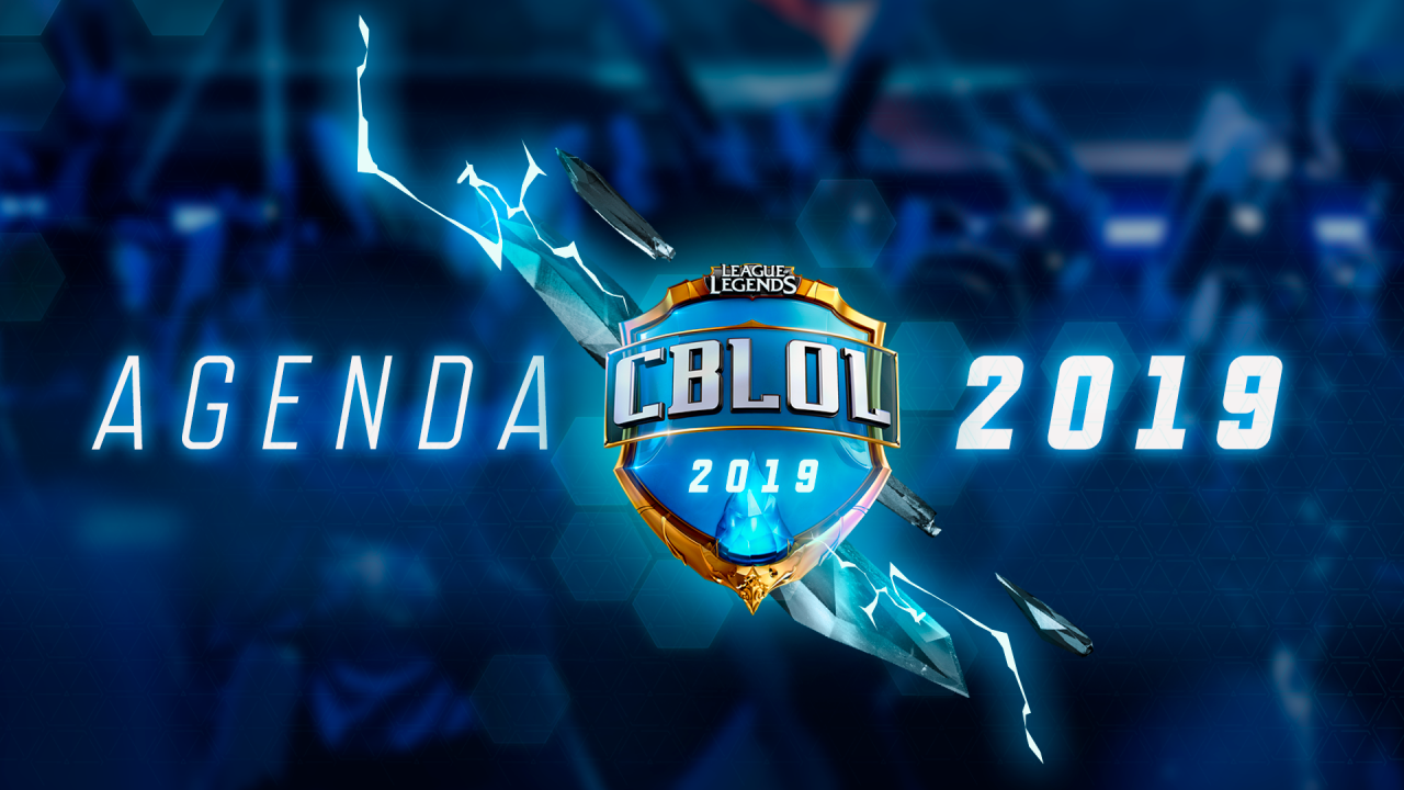 Calendário CBLoL 2019.