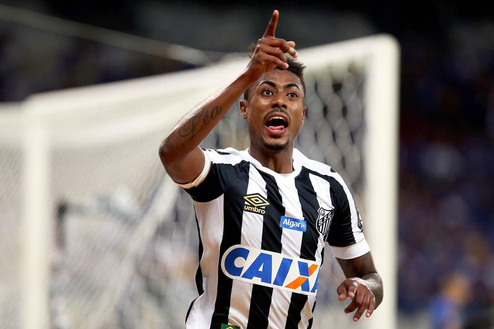 Bruno Henrique se despede do Santos