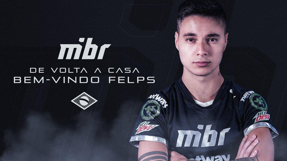 Felps é anunciado pela MIBR.