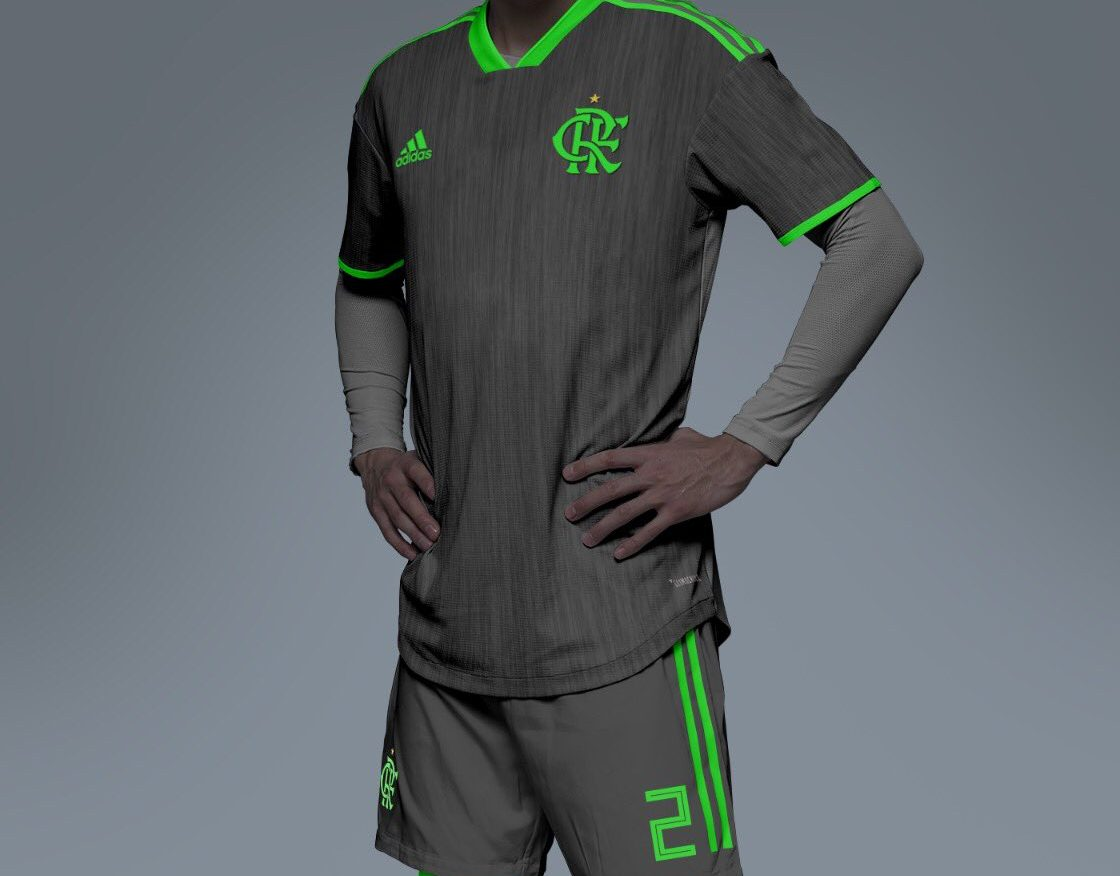 8721f23b7d Suposto terceiro uniforme do Flamengo vaza e web se divide entre revolta e  zoeira; Confira