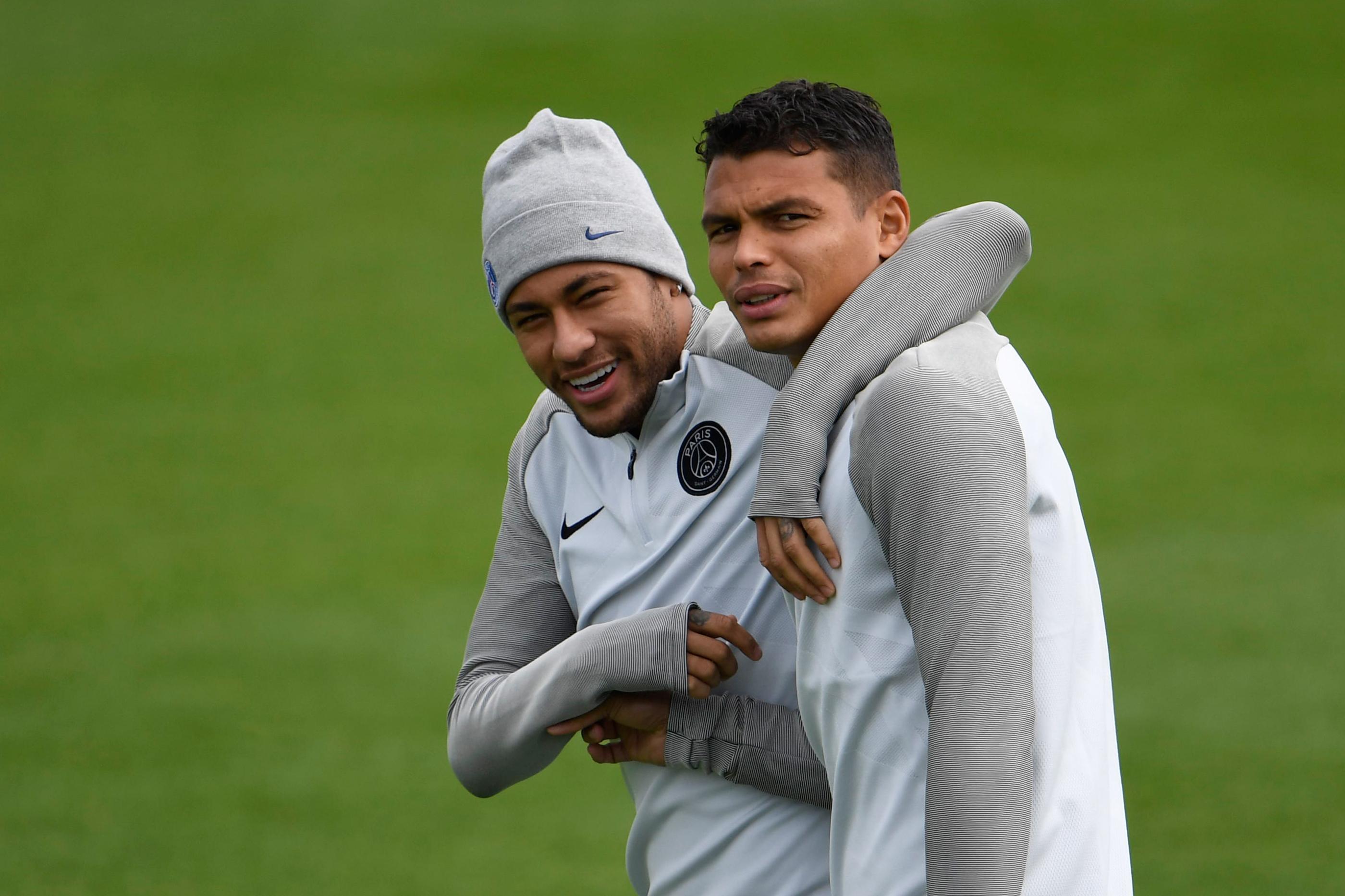Thiago Silva e Neymar
