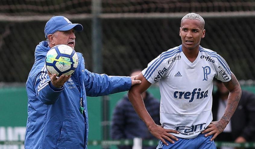 Deyverson e Felipão - Palmeiras