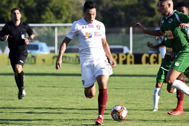 Marlon durante Fluminense x Cabofriense em 2018