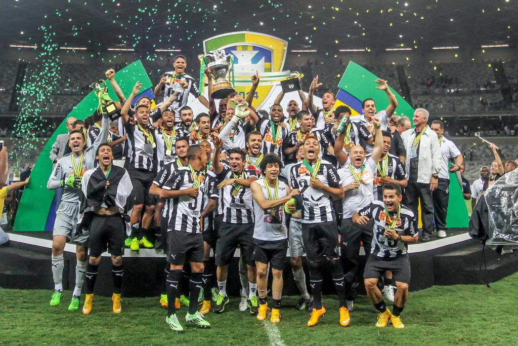 Galo campeão da Copa do Brasil em 2014, ao vencer o Cruzeiro na final