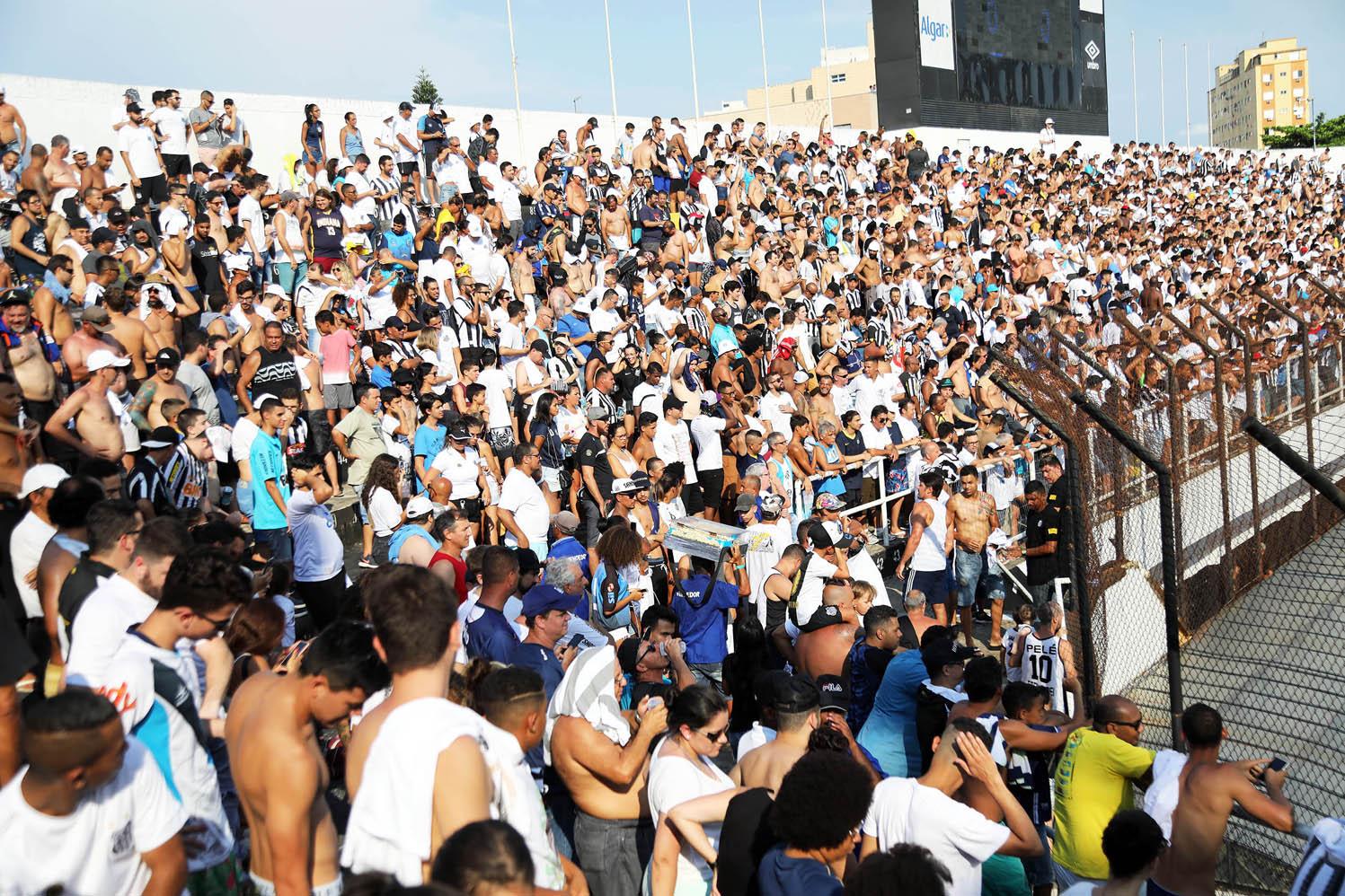 Santos parcial de ingressos Corinthians