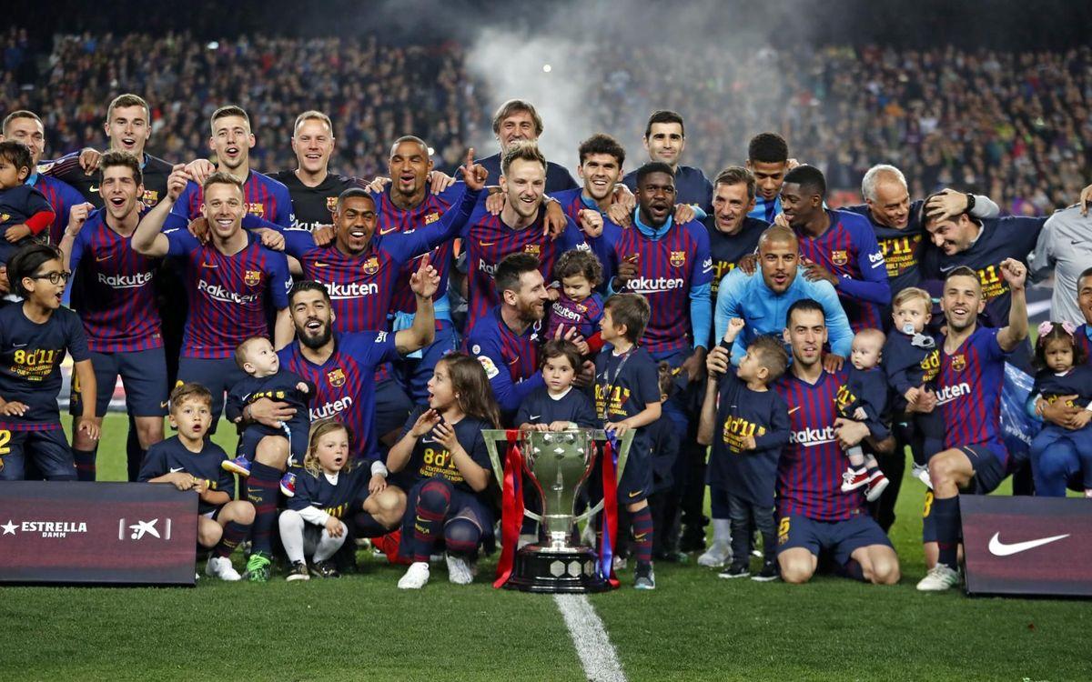 Barcelona é um dos campeões nacionais na Europa na temporada 2018/2019