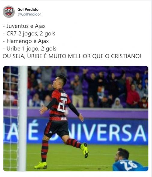 Após mais uma vitória do Ajax na Liga dos Campeões, torcedores de Palmeiras, Vasco e Flamengo se ''gabaram'' de bons resultados recentes diante do clube holandês.