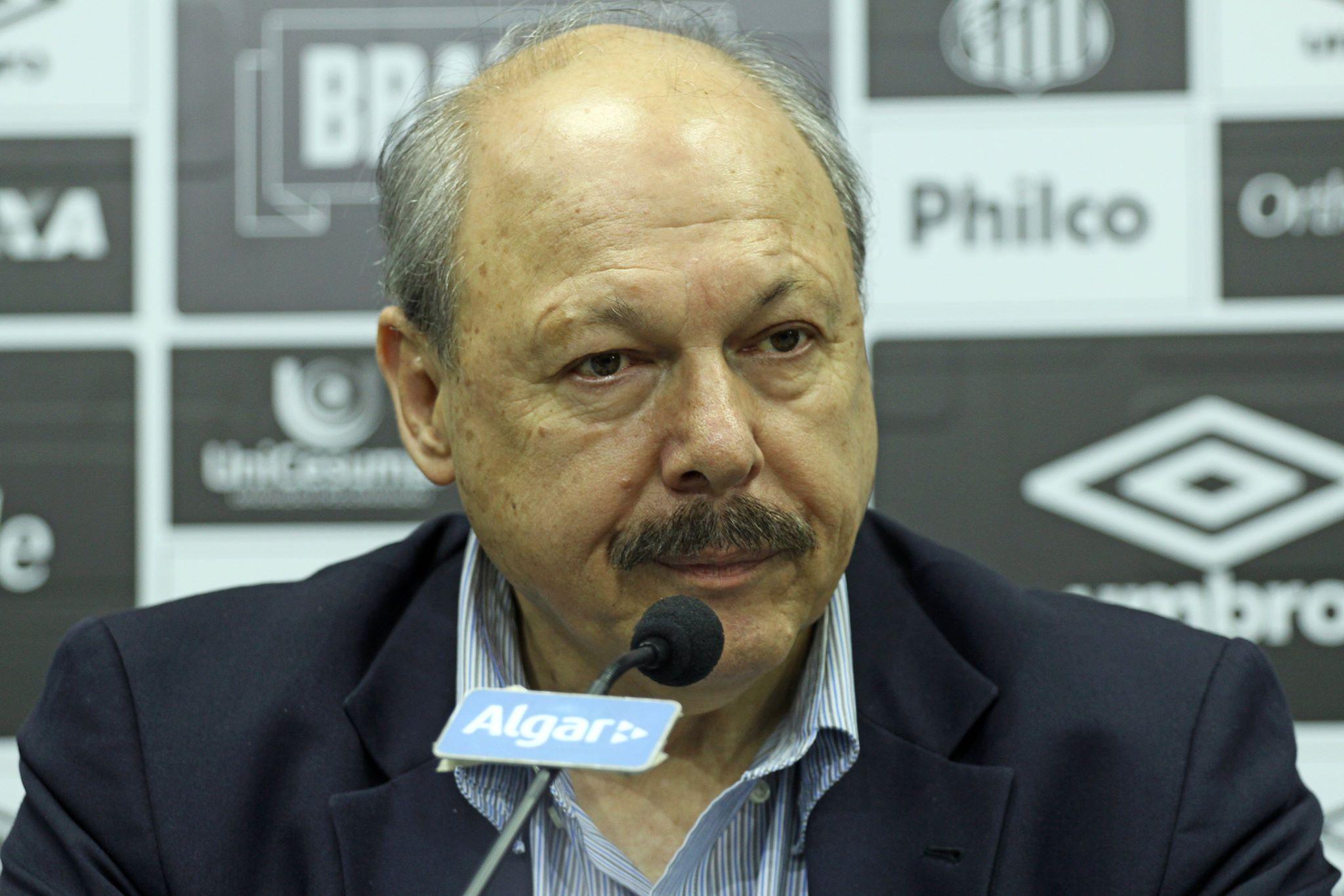 Presidente do Santos nova Vila Belmiro