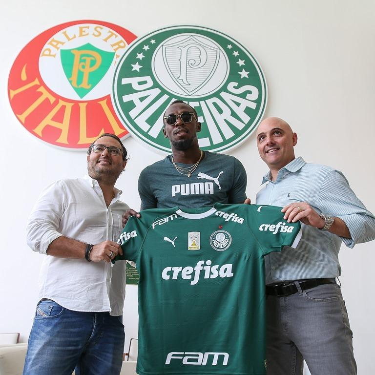 A visita de Usain Bolt ao Palmeiras repercutiu na imprensa internacional.