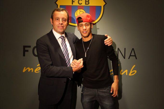 Sandro Rosell e Neymar