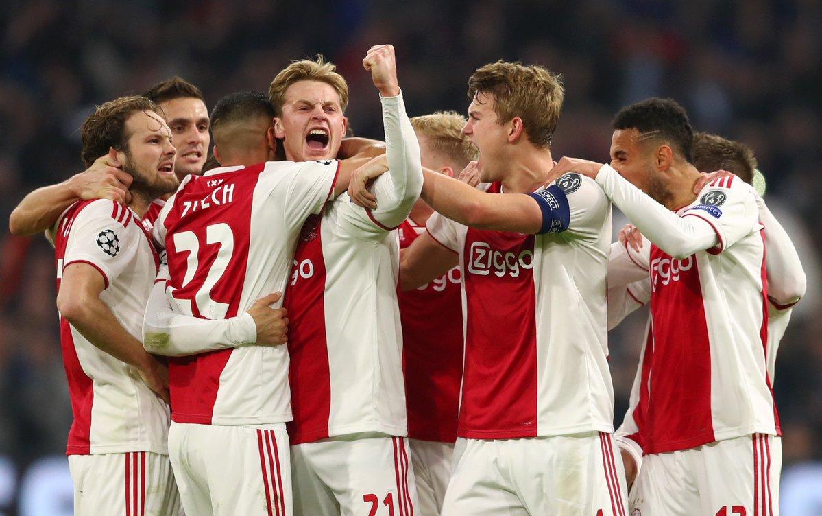Ajax escalação Tottenham Champions League