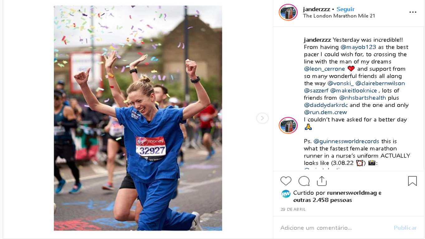 enfermeira maratonista