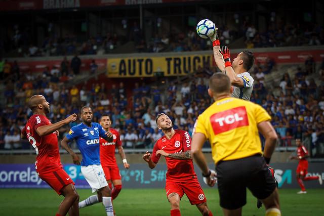 Em 2018, Internacional e Cruzeiro empataram sem gols nas duas vezes em que se encontraram pelo Brasileirão