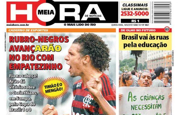 Capa do jornal Extra desta quinta-feira (16)