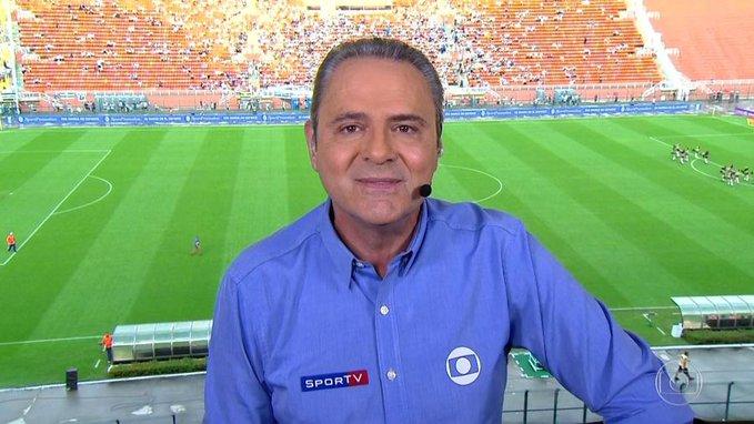 Luis Roberto, narrador do Grupo Globo Flamengo São Paulo