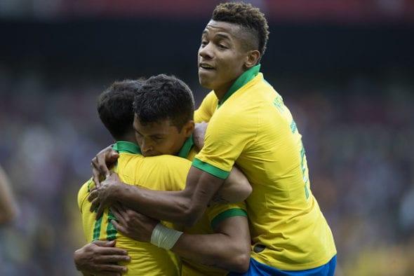 David Neres fez o primeiro gol dele pela seleção brasileira