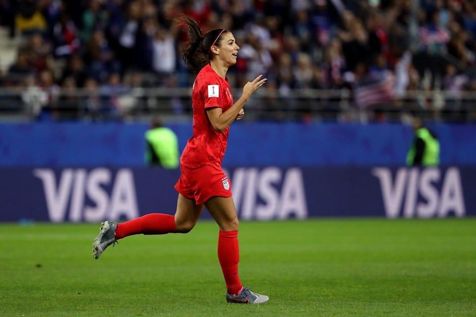Alex Morgan Estados Unidos goleada Copa do Mundo Feminina