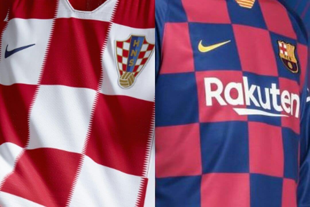 Barcelona nova camisa Croácia