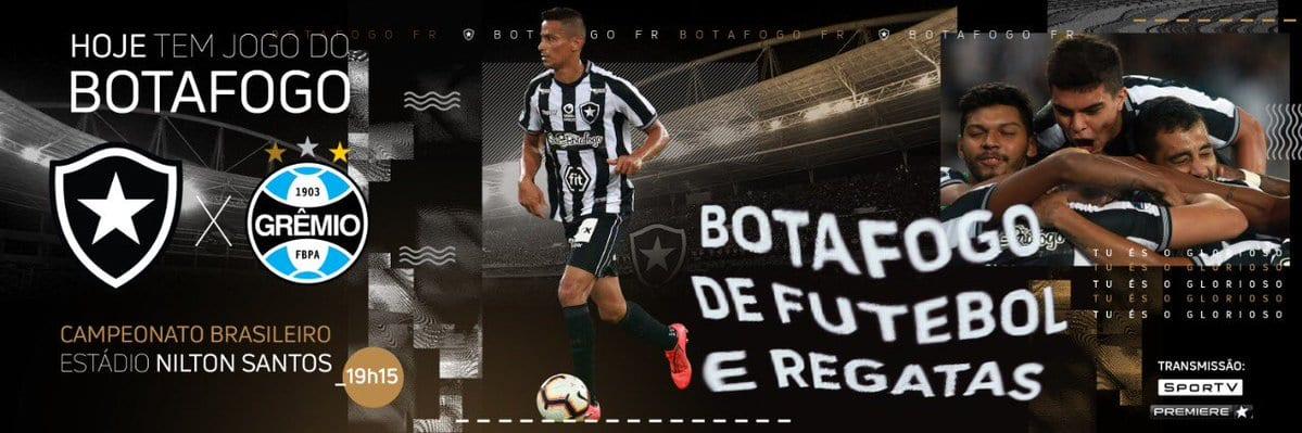 Botafogo x Grêmio guia de radio