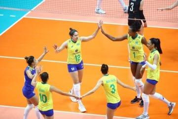 Brasil comemora ponto contra Bélgica
