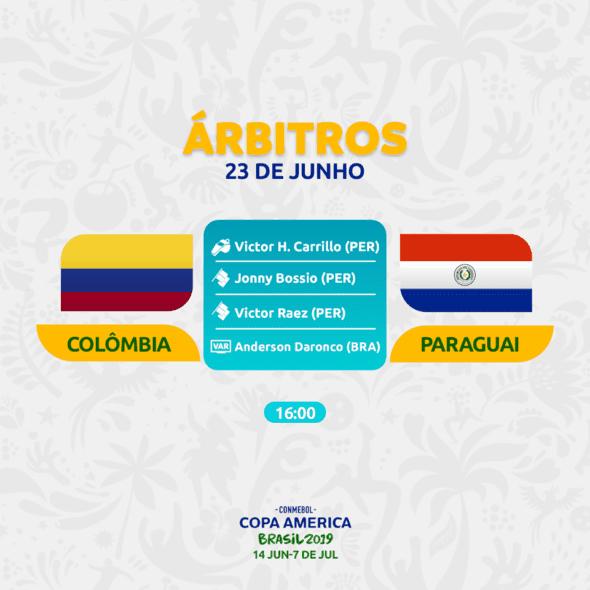 Colômbia x Paraguai