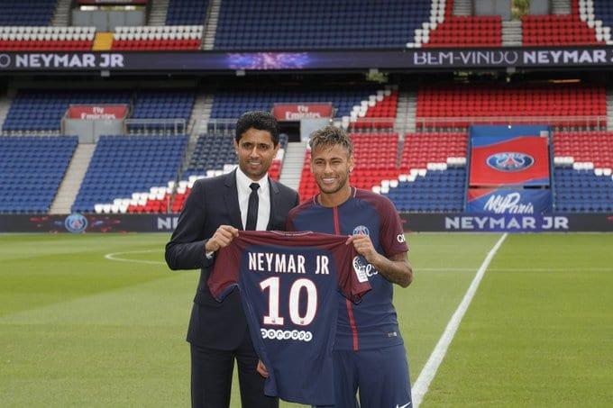 Neymar é o jogador mais caro do PSG.