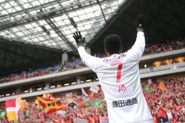 Jô se transferiu para o Japão para ser a referência no ataque do Nagoya Grampus.