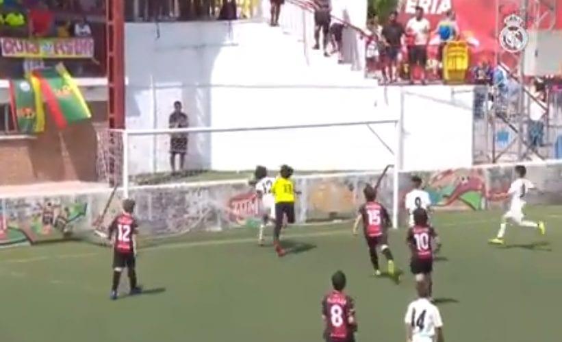 Filho de Marcelo marcou um golaço em jogo das categorias de base do Real Madrid.