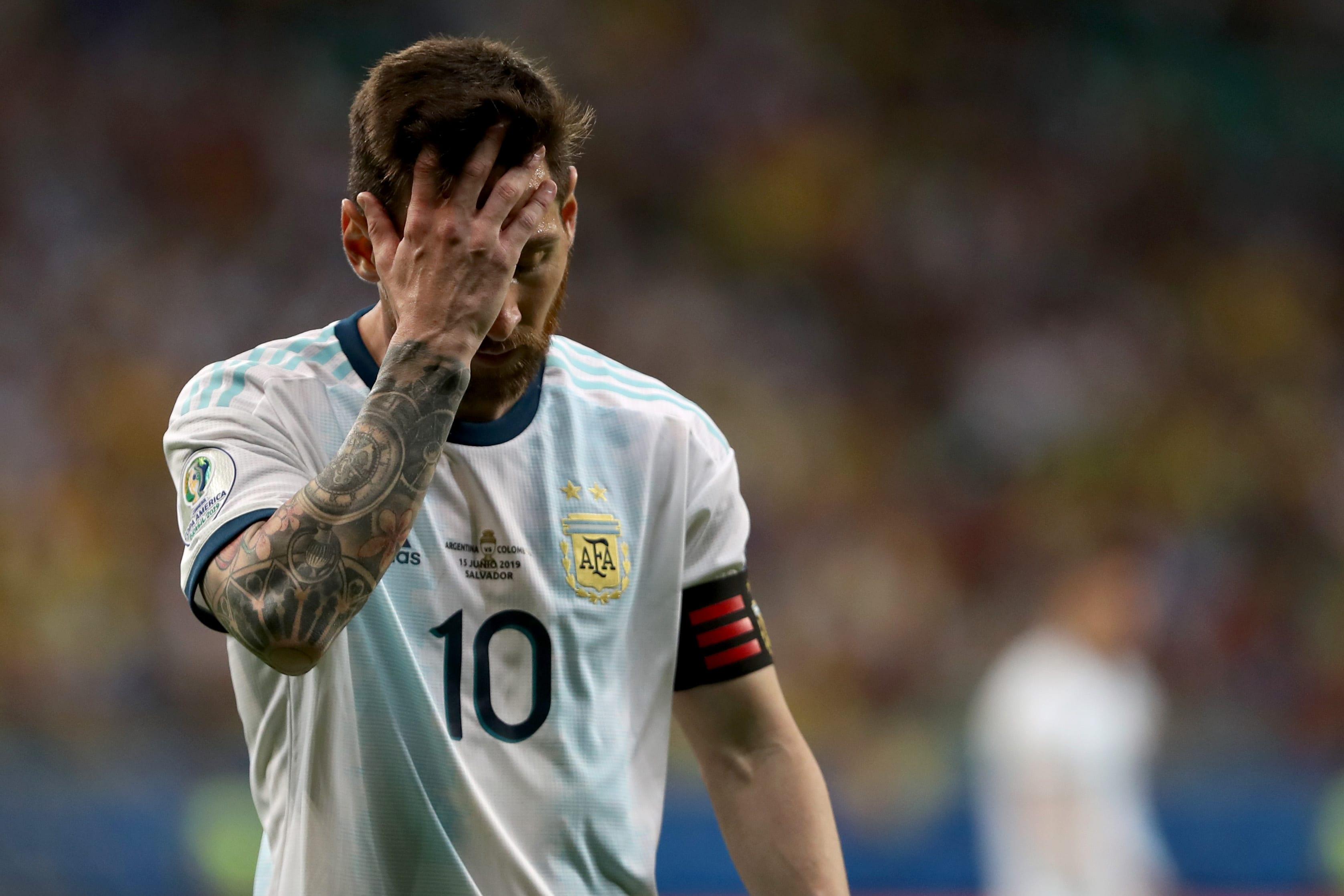 Argentina de Messi perdeu na estreia da Copa América