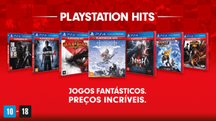 Jogos do PlayStation Hits.