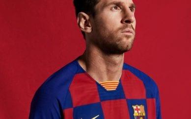 Uniforme do Barcelona em Messi