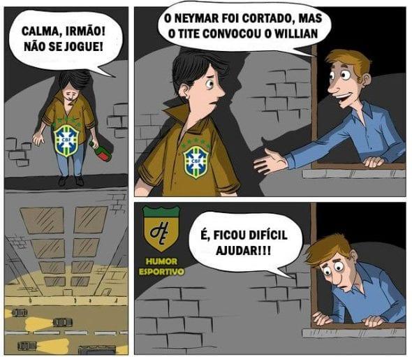 Tite Convoca Willian Para O Lugar De Neymar E Vira Piada